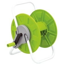 60m Portable Hose Reel Garden Watering Pipe Cart Free Standing Compact Winder