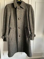 """Rodex Irish Tweed Wool Green Brown Grey Dog Tooth Lined Coat 42"""" Chest"""