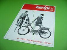 406ka2 60er anni prospetto, brochure: Berini Van Gazelle (corona m47, Comet)