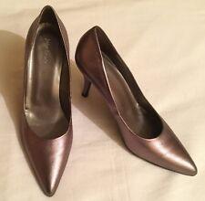 Ladies John Lewis 'Payo' pewter Leather Court Shoes Size 39 EUR 6 UK