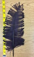 A1 Vintage Feathers Plume For Hats Hat Costume Millinery Supplies Purple Plum