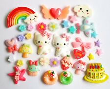 20 Pcs.Charmmy Kitty&Cartoon Resins Decoden Cabochon DIY Phone Case Deco Den Kit