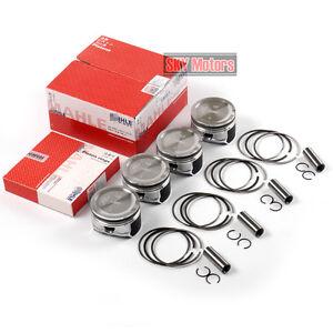 4x Pistons & Rings 81mm 0.00 STD For AUDI A4 VW Jetta Golf MK4 1.8T 20V AWP AWW