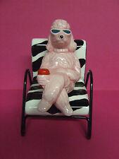 Pelzman Stacker Poodle/Dog w/Sunglasses in Zebra Print Chair Salt & Pepper