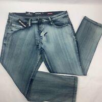 Ecko Unltd Mens Jeans 34 Blue 741 Athletic Tapered Light Wash NWT (38 x 31)