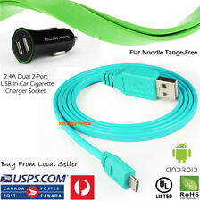 Long Flat Micro USB Data Sync Charging Cable Cord for Samsung Galaxy S6 S7 Edge