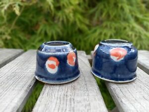 Pair of Studio Pottery Candle Holders by Isabel Denyer (ref. 1876/6)