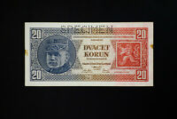 Czechoslovakia Early Specimen Note Czechoslovakia Early Specimen Note