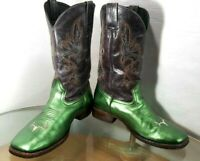 Cabela's Western Boots Men's SIZE 11.5 D Metallic Green Leather