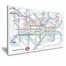 London Tube Map Canvas Wall Art Picture Print 76x50cm