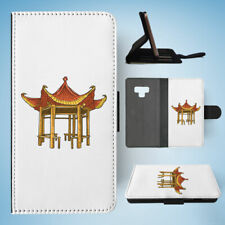 SAMSUNG GALAXY NOTE 9 FLIP CASE WALLET COVER|CHINESE BUDDHIST TEMPLE 2