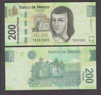 Mexico banknote P 200 Pesos 13.5.2015 Serie BD, UNC  We Combine