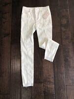 Free People Women's Jeans White Ivory Size 25 Seamed Frayed Hem $78