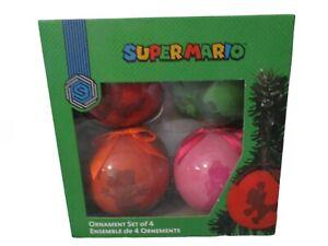 Nintendo Super Mario Christmas Ornaments - Set Of 4 - 2018 BRAND NEW!