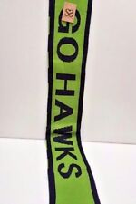 "NFL Seattle Seahawks ""Go Hawks"" Blue & Lime Knitted Neck Wrap 76"" L New w/Tags"
