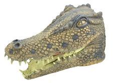 Adultes Crocodile Tête Masque Déguisement Animal Hommes Femmes Accessoire Neuf