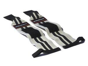 Wrist Wraps Handgelenkbandagen 30 cm Grau mit schwarzen Streifen