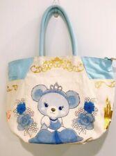 Disney Store Japan UniBearsity Blue Rose as Cinderella Tote Bag Nwt