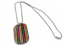 FREE ENGRAVING, Recycled Skateboard, Dog Tag Necklace Pendant, Wooden Dogtag