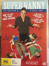 Supernanny Super Nanny US Season 2 - 3 Discs DVD - Free Post!!