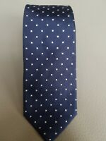 Lardini Skinny Blue Dotted Silk Tie Made in Italy