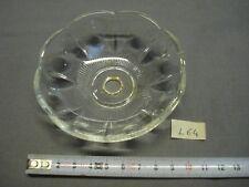 coupelle en verre 98 mm trou 12 mm bobèche lustre applique (réf L64)