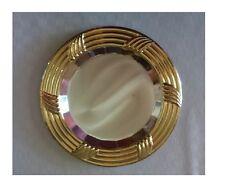Vassoio piatto da servizio centrotavola sottopiatto 22,5 cm col argento oro