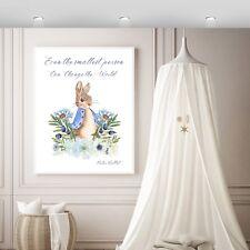 Peter Rabbit Wall Print, Peter rabbit Boy's nursery wall print,