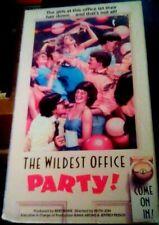 vhs Keith Jon's THE WILDEST OFFICE PARTY 1987 Vestron Corey Pepper RareHTF STRIP