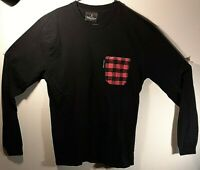 Ball and Buck Men's Black Long Sleeve Cotton Pocket Tee T-Shirt Size: L Large
