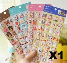 X1 Maneki Neko Lucky Fortune Foam Stickers for Diary Children Kid Rewards Gift