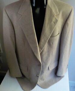 JOSEPH  & LYMAN 100% Cashmere 2 Button Tan Blazer SZ  44R