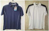 Lot of 2 TIGER Size M Short Sleeve Perma Cool Stainshield Performance Shirts