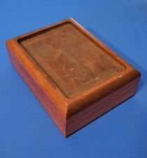 Wood Mounting Card Box Display Cross Stitch Or Other Needlework