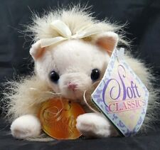 Long Hair Blue Eyes Cat Plush Soft Classics 1998 Toys R Us Kitten Tags