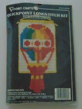 Sealed Vogart Crafts Rainbow Balloon Wallhanging Stitch Craft Kit with Dowel New