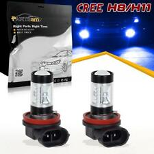 2Pcs H8 H11 Real Cree Led 30W Fog Driving Light Blue Projector Ultra Bright Lamp