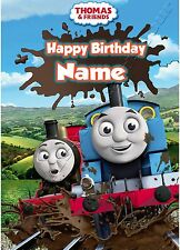 - THOMAS THE TANK ENGINE - SON GRANDSON... PERSONALISED CHILDREN'S BIRTHDAY CARD