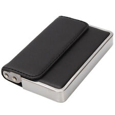 Pocket Stainless Steel & Artificial Leather Business Card Holder Case ID Credit