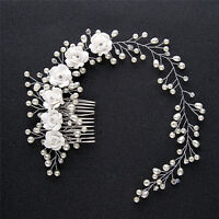 Luxury Wedding Hair Jewelry For Bridal Pearl HairComb Hand Made Hair AccessorySL