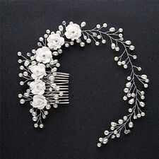 Luxury Wedding Hair Jewelry For Bridal Pearl Hair Comb Hand Made Hair Accessoryŋ