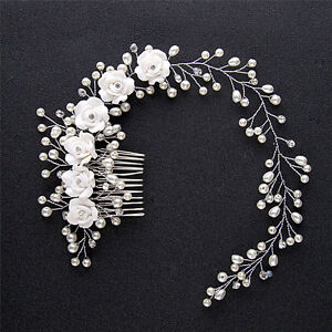 Chic Wedding Hair Jewelry For Bridal Pearl Hair Comb Hand Made Hair Accessory*R1