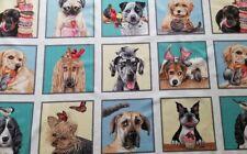 New Elizabeth's Studio Doggie Drama Fabric Panel Quilting Sewing Crafting