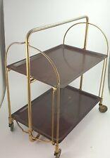 Vintage Gerlinol Serving Tray Folding Cart Bar Tea Trolley Chrome