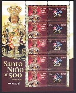 Philippines SANTO NINO 1521 - 2021 Large Souvenir sheet of 10 Values mint NH