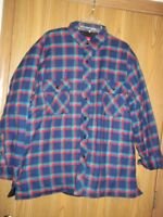 Coleman Quilted Lined Plaid Shirt XL Blue Red Green