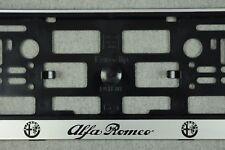 2x Kennzeichenhalter ALFA ROMEO Kennzeichenhalterung Nummernschildhalter kfz NEU