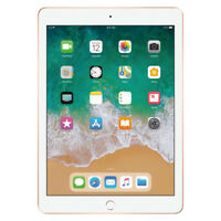 "Apple 9.7"" iPad 6th Gen 128GB Gold Wi-Fi MRJP2LL/A 2018 Model"