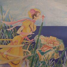 N2084 Reproduction peinture aquarelle paysage scène de genre personnage Monaco