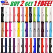 Silicone Band Wrist Strap For Apple Watch iWatch Sports Series 1/2/3/4/5 38-44mm